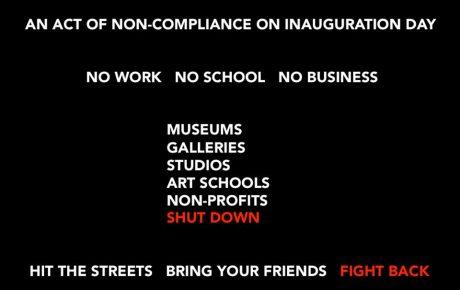 Yhdysvalloissa taiteilijat ja galleriat lakossa Trumpin virkaanastujaispäivänä