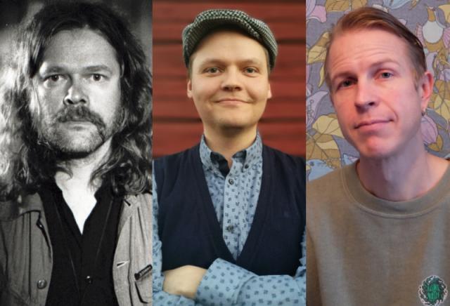 Uudet läänintaiteilijat Ville Pirinen (kuva: Sami Sänpäkkilä), Vesa Plath ja Hans-Peter Schütt.