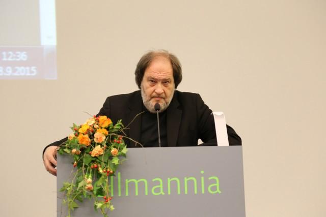 Ilkka Väätti Lahden ammattikorkeakoulun Taiteilija-identiteetti -seminaarissa syyskuussa.