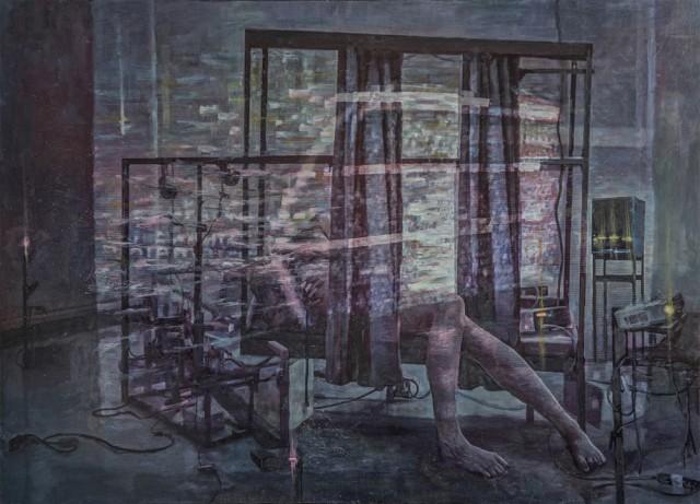 Olli Niskanen, Master / Slave, 2013, sekatekniikka Mdf-levylle