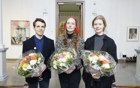 Suomen taideakatemian palkintoehdokkaat ovat Outi Pieski, Jani Ruscica ja Emma Rönnholm