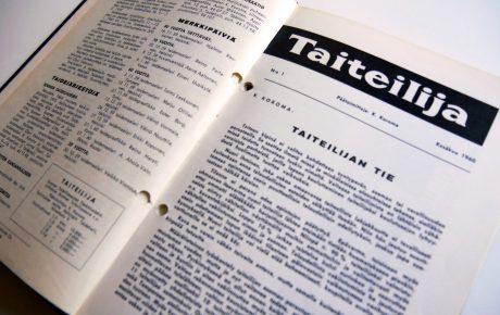 Pääkirjoitus: 60 vuotta kuvataiteilijoiden lehtenä