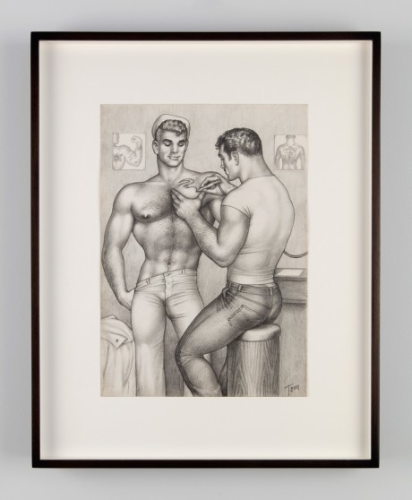 Tom of Finland, Untitled, 1962, Graphite on paper. Tom of Finland Foundation, Permanent Collection. Courtesy of Artists Space, New York and John Morace & Tom Kennedy, Los Angeles. Kuta: Jean Vong