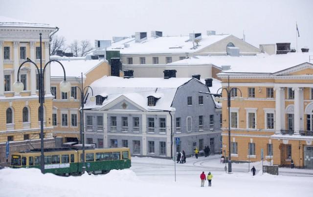 Helsingin kaupunginmuseo Senaatintorin suunnasta. Kuva: Marja Väänänen