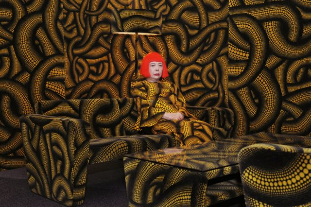 HAMin vetonaula 2016 oli Yajoi Kusaman retrospektiivi. © Courtesy of Ota Fine Arts, Tokyo/ Singapore; Victoria Miro Gallery, London; David Zwirner, New York, © Yayoi Kusama