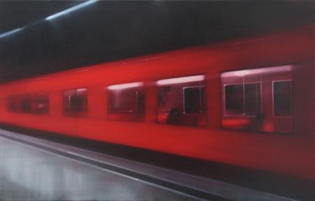 Minna Sjöholm on yksi kuvataiteen näyttöapurahan saaneista 120 taiteilijasta. Kuvassa teos Metro vuodelta 2014.